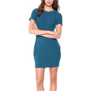 Likely Manhattan short sleeve cerulean teal dress